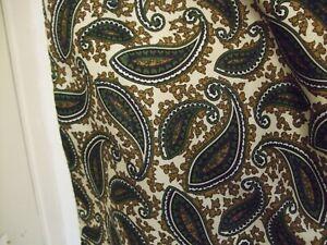 Vintage DUGGIE? Scarf  Paisley/ Dark Brown Wool