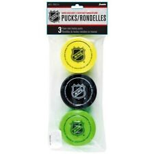 Franklin Sports NHL 2 Inch EVA Foam Knee Hockey, Mini Pucks, 3 Pack, Multi-Color