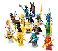CUSTOM LEGO NINJAGO MINIFIGURES BUNDLE NINJA FIGURES MINI-FIGS - MINI FIGURES
