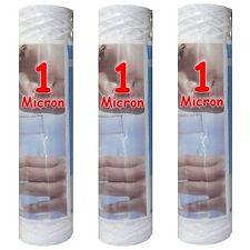 """Cartouche filtre à eau 10"""" 1 µm bobinée sédiments-particules-boue (lot de 3)"""