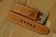 handmade 24mm ammo leather watch strap w Pre-v screw-in buckle fits Panerai