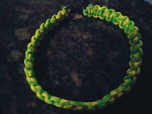 """Dog Collar, Handmade Paracord FASHION Neon Dog Collar-U.S.A  Made! 14"""""""