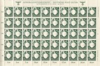 Stamp Germany Poland General Gov't Mi 105 Sheet 1943 WWII Fascism Emblem MNH