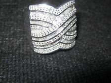 WOMEN'S DIAMOND SWIRL RING SIZE 6.5 GORGEOUS 1 carat of sparkling diamonds