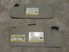 2007-2010 Ford Ranger Sunvisors Gray Driver Passenger Side OEM Used Clips