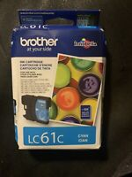 Genuine Brother LC61C CYAN Ink Cartridge Brand New/Factory Sealed 04/2021