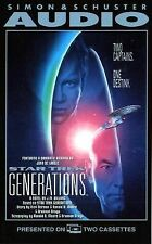 STAR TREK GENERATIONS - JM DILLARD AUDIOBOOK READ BY JOHN DE LANCIE CASSETTES