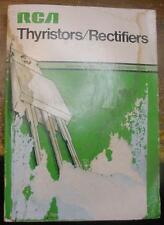 """RCA Solid State Thyristors / Rectifiers SSD-206C 1975 Databook 5"""" X 7"""" X 5/8"""""""