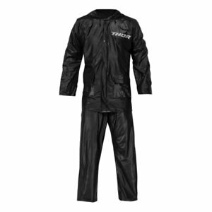 Thor Two Piece Rain Motorcycle Motorbike Over Suit Black