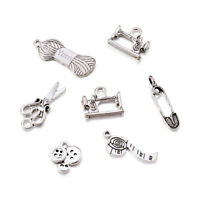 2Pcs Tibetan Silver Safety Pin Brooch Skyblue Angel Christmas Charms Handmade