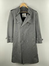 Clipper Mist Vintage Men's Trenchcoat With Velour Removable Lining Size 38R Grey