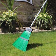 JVL Garden Broom Bristled Brush Rake With Detachable & Extendable Handle Outdoor