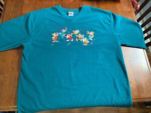 Disney Seven Dwarfs Vintage Sweatshirt womens Size XL