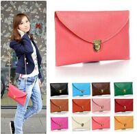 fashion Women's leather Clutch Chain Purses Handbag Tote Shoulder Envelope Bag
