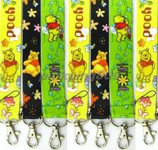 10 Pcs Winnie the pooh Lanyards Straps Mobile Phone Key Chain Party Gifts K060