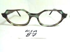 Vintage 1960's Unmarked Eyeglass Frame Smoke Gray Marble USA  (WSA-87.1)