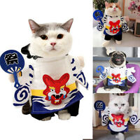 Pet Cosplay Dog Cat Costume Yin Yang Master Model Funny Standing Coat Clothes