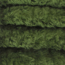 """1/4 yd 785S/C Forest Green INTERCAL 3/4"""" Med. Dense Curly German Mohair Fabric"""