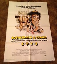 SPYS Donald Sutherlnd Elliott Gould ORIGINAL 1974 ONE SHEET MOVIE POSTER