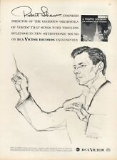 """1958 Victor Records Director Robert Shaw """"A Mighty Fortress""""  PRINT AD"""