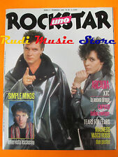 rivista ROCKSTAR 65/1986 POSTER Vasco Rossi Simple Minds Arcadia Caputo  No cd