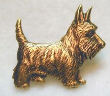 Handcrafted Brass Scottie Button - Realistic  7/8 inch size FREE US SHIPPING