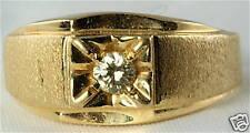 VINTAGE 14K GOLD MENS .15 CARAT DIAMOND RING SIZE 10.5