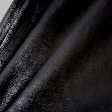 Stoff Meterware Baumwolle  Batist Voile schwarz  leicht luftig transparent