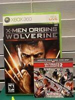 X-Men Origins: Wolverine - Xbox 360 Game - Complete W/ Manual & Insert