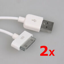 2Pcs 3.3ft/1M USB Sync Data Charger Cable Cord for iPad 3 2 iPhone 4S 4 3GS iPod