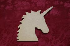 MDF Wooden Wooden MDF Unicorn Head Freestanding craft shape Craft wall door h...
