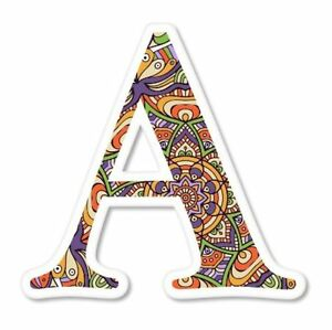 A Letter Ornamental Mandala Fancy Font Vinyl Sticker - SELECT SIZE