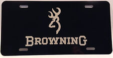 Browning Black Truck Auto Aluminum License Plate tag