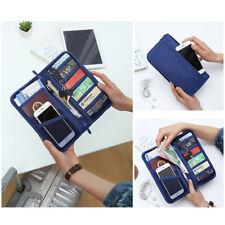Reise Brieftasche Multifunktions-Dokumententasche Kredit Wallet Reisepass Etui