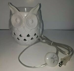 Yankee Candle OWL Wax Tart Melt Warmer Burner Electric Timer Gray No Box