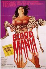 BLOOD MANIA Movie POSTER 27x40 B Peter Carpenter Maria de Aragon Alex Rocco
