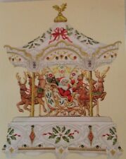 Lenox Millennium Centerpiece Holiday Carousel Santa Music Box [New]