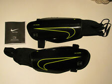 2 Sets New Black Nike Charge 2.0 Soccer Shin Guard padded ankle sock Adult Large