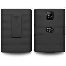 Amzer Hard Shell Case + Belt Clip Holster Combo Cover BlackBerry Passport Q30