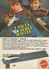 X7533 Lancia aerei Mattel - Pubblicità 1977 - Vintage Advertising