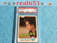 1981 O-Pee-Chee #112 LEE FOGOLIN   Oilers   Near Perfect PSA 9 Mint   4 10's+