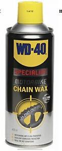 WD40 SPECIALIST MOTORBIKE CHAIN LUBE 400ML - MOTORCYCLE BIKE CHAIN WAX