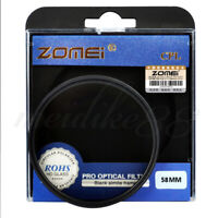 Zomei 58mm CIR-PL Circular Polarizing CPL FILTER for Canon Nikon Camera Lens