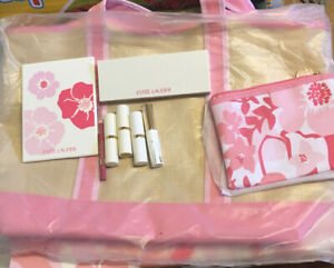 estee lauder gift set New 3 Full Size Lipstick And Eyeshadow Set