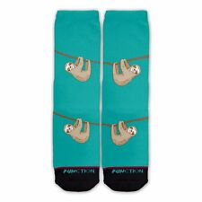 Function - Hanging Sloth Teal Fashion Socks Printed Crew Socks Funny Print Socks