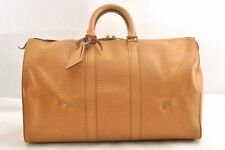 Authentic Louis Vuitton Epi Keepall 45 Boston Bag Beige LV 95161