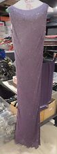 Jovani lilac purple beaded sleeveless 100% SILK long maxi formal dress and scarf