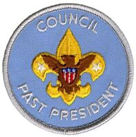 """Boy Scout Official Licensed BSA Council Past President 3"""" Patch Emblem Brand New"""