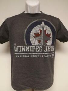 New Winnipeg Jets Youth Size S-M-L-XL Grey Shirt