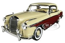 1958 MERCEDES BENZ 220SE COUPE CREAM & RED 1/18 DIECAST MODEL CAR SUNSTAR 3570